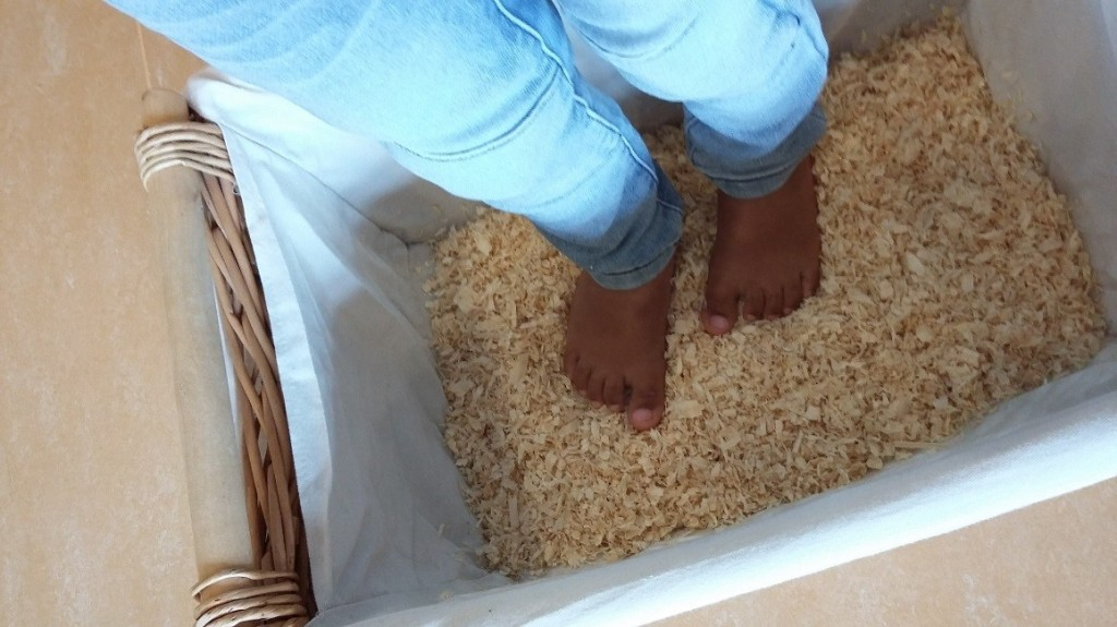 Blote voeten pad foto 3