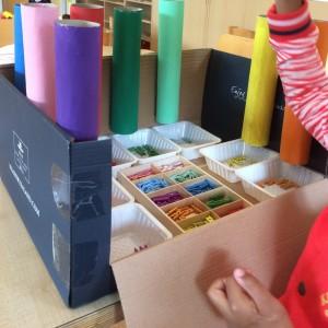 Kleuren sorteren De Blokkendoos